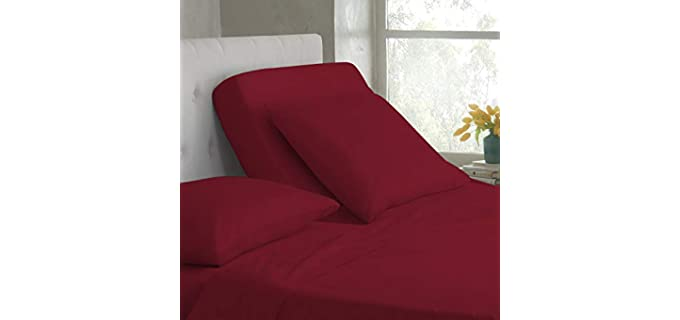 American Club Cotton - Best Sheets for Adjustable Beds