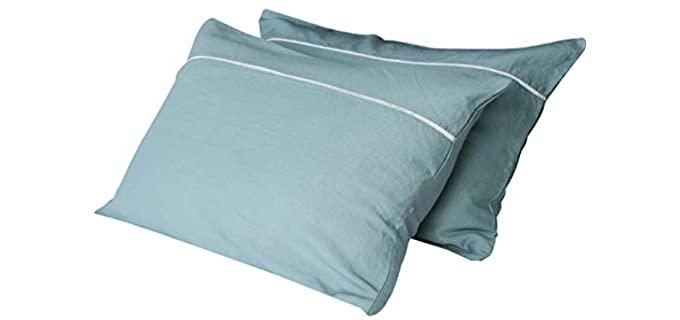 AVEYAL Zippered - Lux Linen Pillowcase