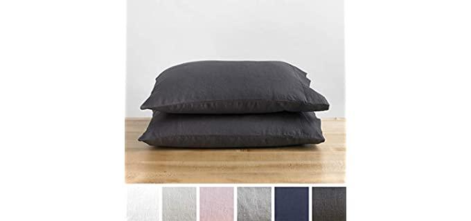 Baloo  Charcoal - French Linen Pillowcase