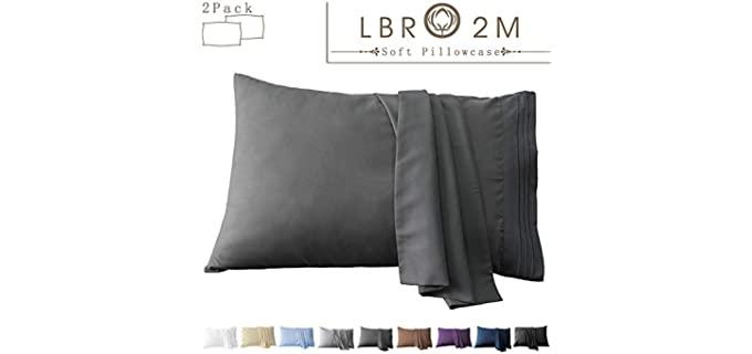 LBRO2M  Microfiber - Lux Hypoallergenic Pillow Cases