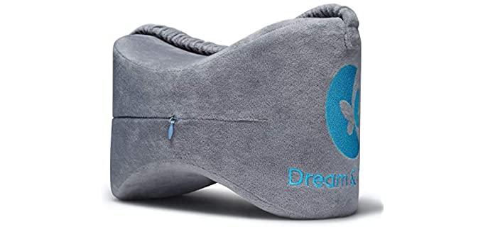 Dream & Reborn Zippered - Soft Memory Foam Knee Pillow