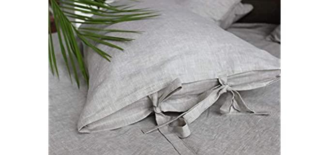 3HLinen Chic - Classic Linen Pillowcase