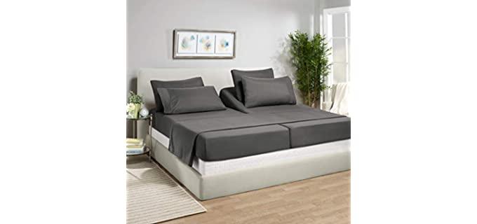 Empyrean Bedding Split King - Sheets for Adjustable Beds