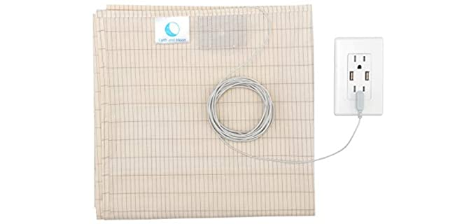 EARTH AND MOON Silver threaded - Universal Earthing Sheet