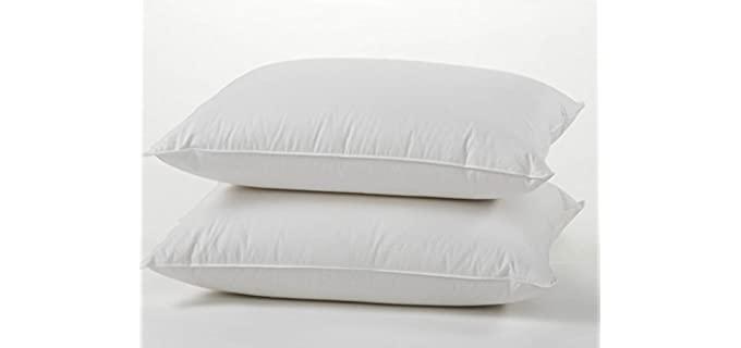 East Coast Bedding European 800 - White Goose Down Pillow Set