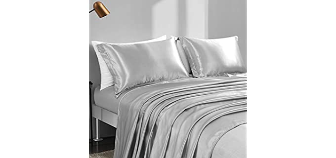 HOMBYS Satin - Cooling Bed Sheets Set