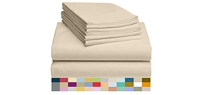 LuxClub Deep Pocket - Bamboo Sheet Set