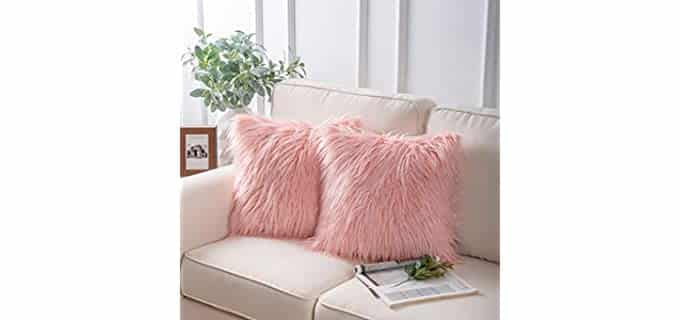 Phantoscope Luxury Series - Faux Fur Throw Pillow Covers
