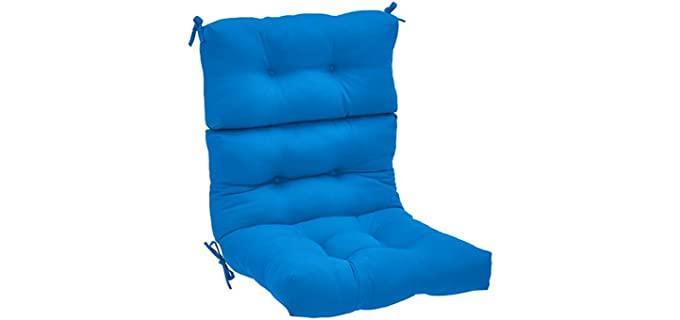 AmazonBasics Tufted - Waterproof Patio Chair Pillows