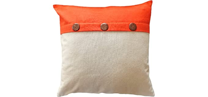 Blue Dolphin Decorative - Coconut Buttons Pillow