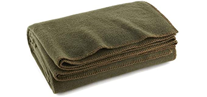 Ever Ready Warm Olive - Wool Fire Retardent Blanket