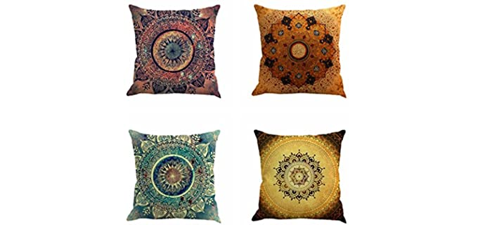 Jartinle Boho Style - Decorative Retro Cushion Case