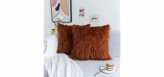 Kevin Textile Long Fur - Retro Throw Pillow Case