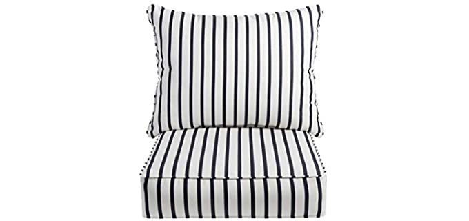 Mozaic Zippered - Waterproof Striped Chair Pillows