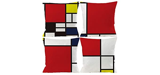 Wilproo Abstract - Retro Throw Pillow Covers