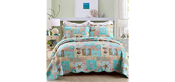 YAYIDAY Quilt Set - Cotton Blanket for Summer