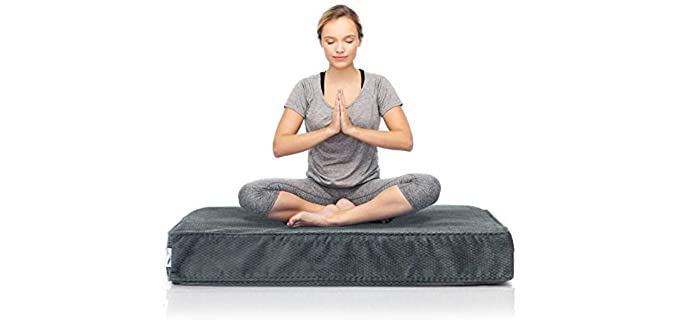eLuxurySupply Plush - Square Meditation Cushion