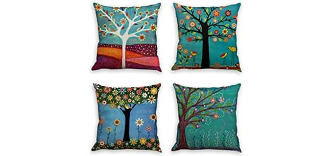 laime Natural Pattern - Throw Pillow Covers