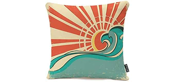 oFloral Vintage - Beach Throw Pillow Case