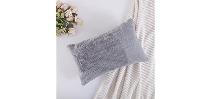 Home Brilliant Plush - Sheepskin Fur Pillow Cover