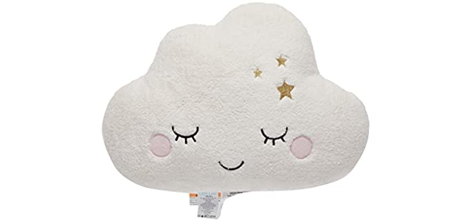 NoJo Fuzzy -  White Cloud Shaped Pillow