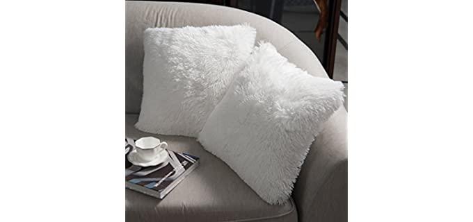 NordECO HOME Fleece - Soft Faux Fur Pillow Cover