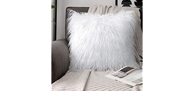Phantoscope Smooth - Fluffy Faux Fur Pillow Covers