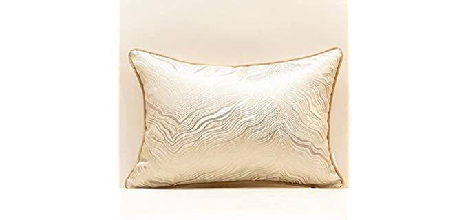 Avigers Gold - Striped Embroidered Pillow Covers