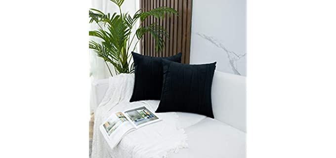 Juspurbet Designed - Black Velvet Pillow Covers