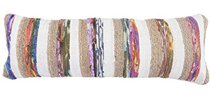 LR Home Striped - Jute Accent Pillow Covers