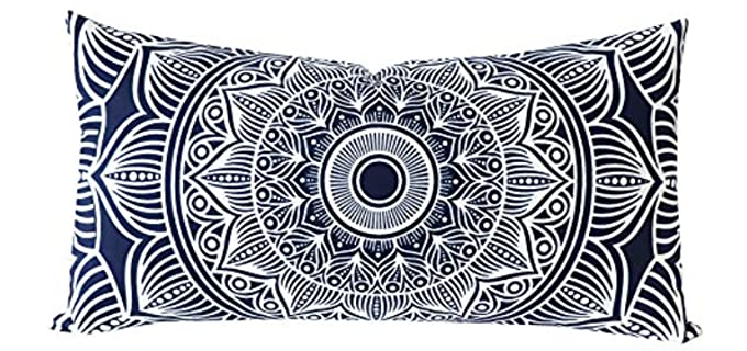 Slow Cow Rectangular - Navy Blue Velvet Pillow Covers