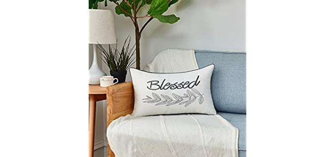 Sunkifover Decent - Lumbar Embroidered Pillow Covers