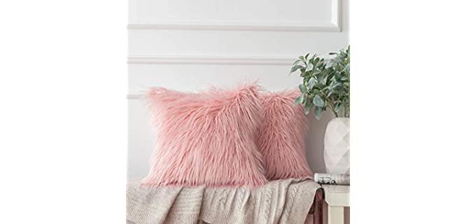 Ashler Home Deco Luxury - Faux Fur Pillow Cover