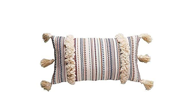 Flber Store Lumbar - Embroidered Throw Pillow