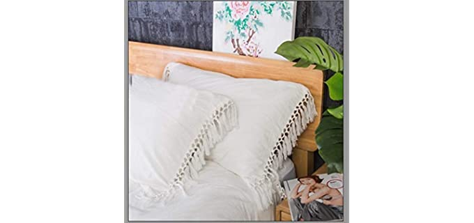 Meaning4 Store Boho - Ivory Pillow Shams
