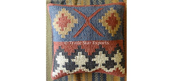 Trade Star Exports Kilim - Indian Jute Pillow Cover