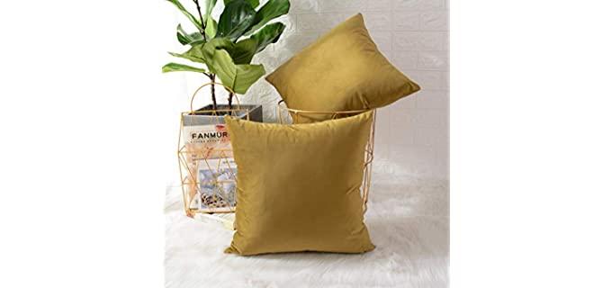 MERNETTE Decorative - Velvet Pillow Cover