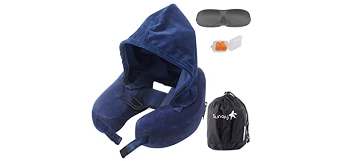Sunany Inflatable - Neck Travel Pillow