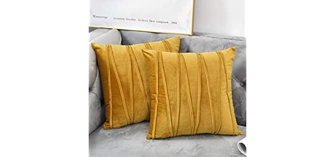 NianEr Square - Velvet Throw Pillow