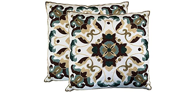 Purple Expressions Decorative - Embroidered Pillow Cover
