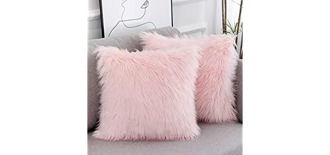 WLNUI Fluffy - Faux Fur Throw Pillowcase