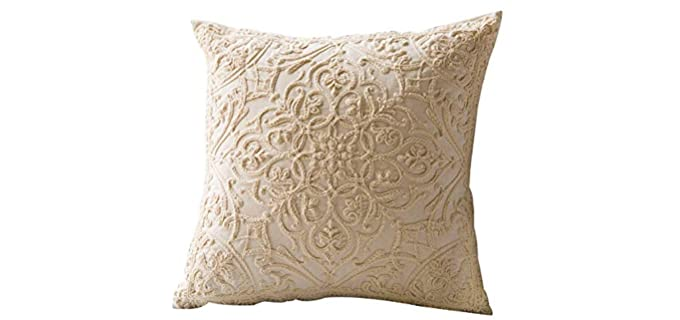 iHogar Square - Embroidered Throw Pillow Case