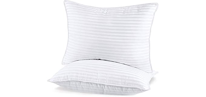 Utopia Bedding Super Plush Gel Fiber - 3D Hollow Siliconized Filled Side Sleeper Pillow
