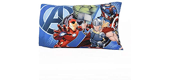 Avengers Marvel Graphic Arts - Colourful Imagery Pillowcase