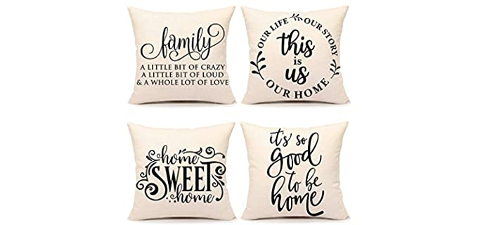 4TH Slogans - Farmhouse Emotion Pillow Covers