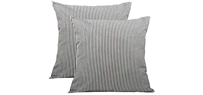 Shamrockers Striped - Farmhouse Pillow Covers