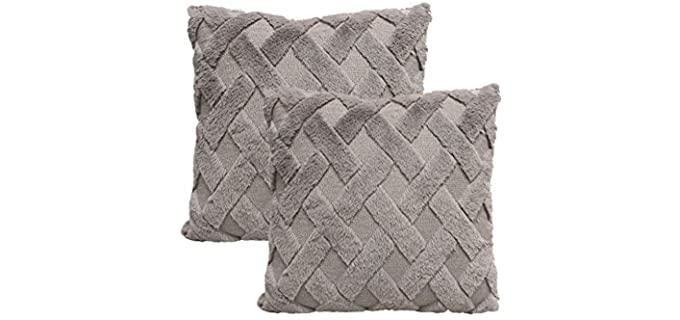 Glorifiv  Velvet - Wool Textured Pillow Case