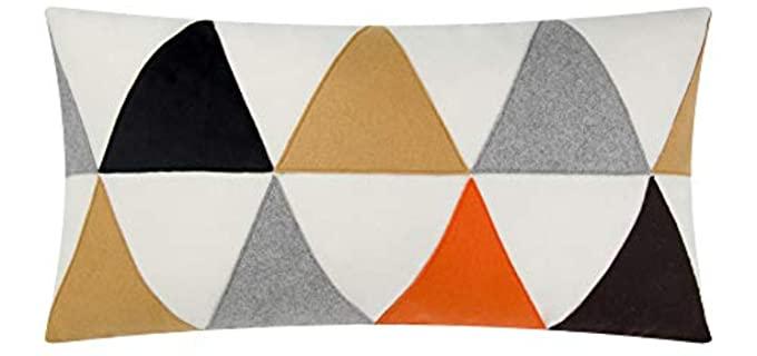 JWH Patchwork - Plush Wool Pillow Case