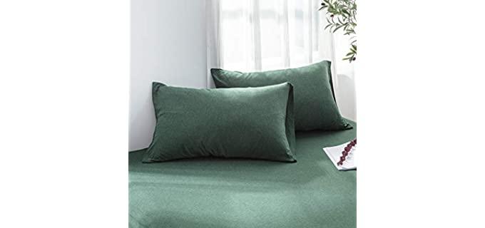 LIFETOWN King Size - Jersey Cotton Pillowcases