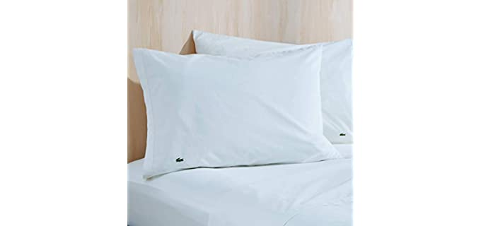 Lacoste Cotton - Percale Solid Pillow Covers